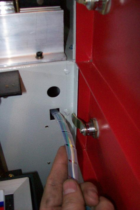 port hole for the motor wires