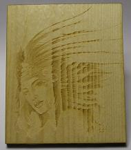 Aztec Princess on wood