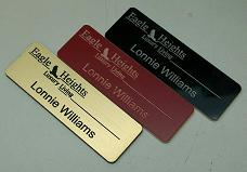 first attemps at engraving name tags