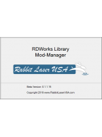 Ruida RDWorks V8 Materials Library Manager